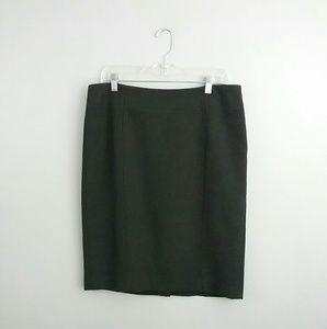 Loft//Charcoal Gray Pencil Skirt